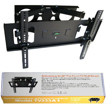 "TV233A-B Articulating 32""-55"" Flat Panel TV Wall Mount"