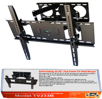"TV233B-B Articulating 36-60"" Flat Panel TV Wall Mount"